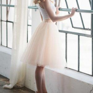 Space 46 Tulle Skirt in Blush